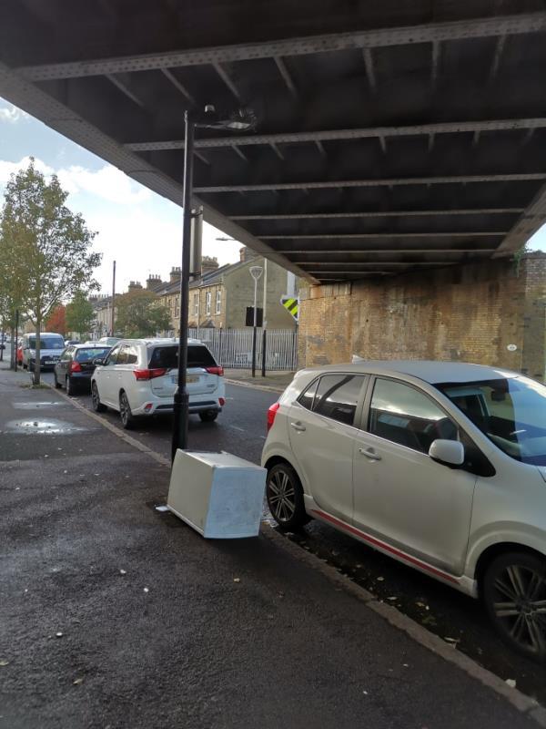 White goods dumped on street -4 Stracey Rd, Forest Gate, London E7 0HG, UK