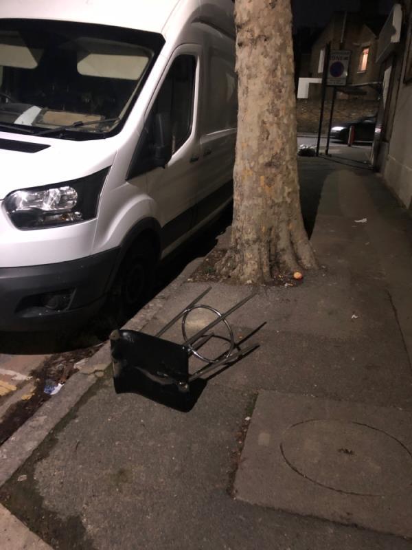 Bar stool on corner of Boundary and Wilson road-87 Boundary Road, London, E13 9PT