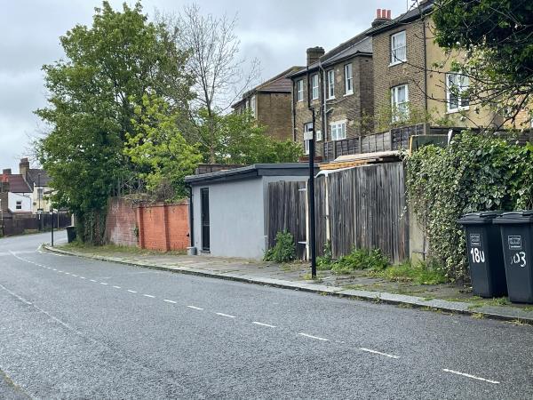 Weeds blocking pavements -16 Littlewood, London, SE13 6SD