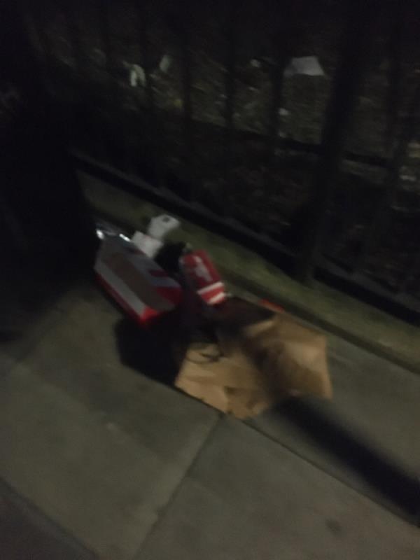 Rubbish -Plashet Grove, East Ham, E7 8QU