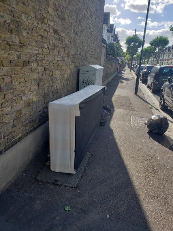 mattress and black bags-56 Lichfield Road, East Ham, E6 3LG