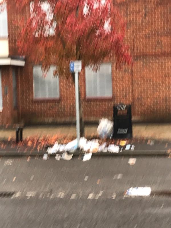 Rubbish opposite One Stop-206-208 North Lane, Aldershot, GU12 4TG