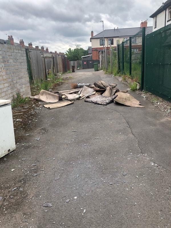 Rubbish dumped -34 Newbolt Road, Bilston, WV14 7NP