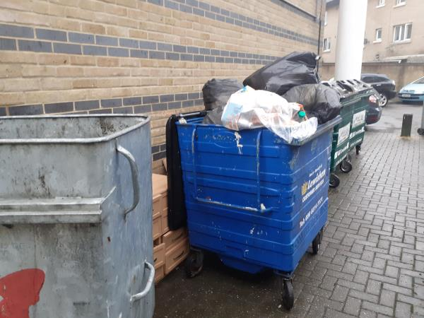 Missed Refuse collection. Reported via Lewisham Homes-Archer square