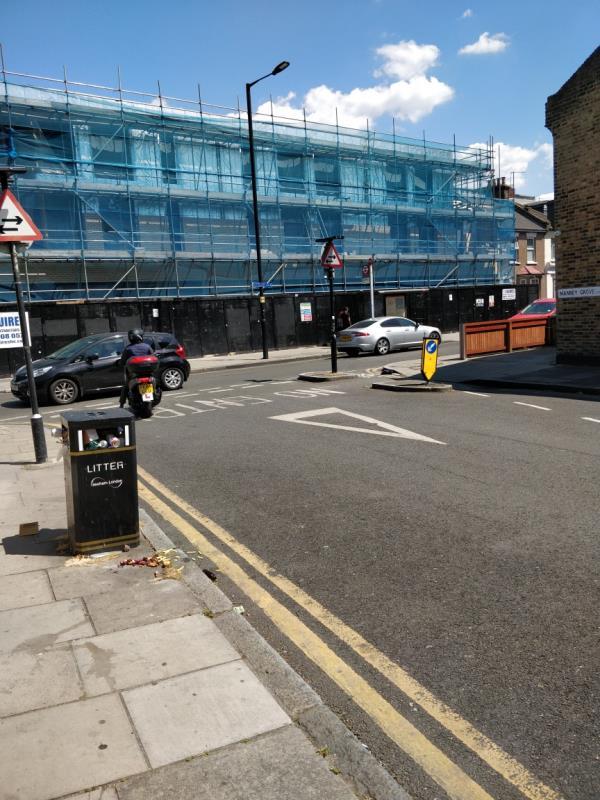 Litter box overflowing beside 41a Manbey Grove E15-41a Water Lane, London, E15 4NL