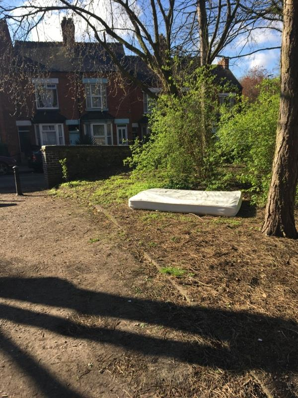 Mattress dumped overnight -44 Vicarage Lane, Leicester, LE4 5PE