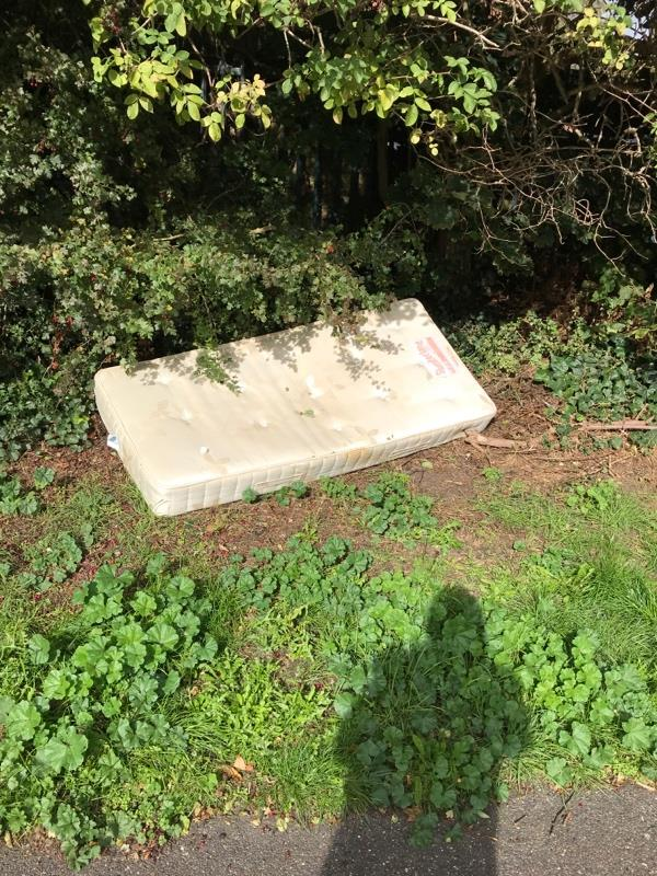Flytipped mattress-Newham City Farm King George Avenue, London, E16 3HR