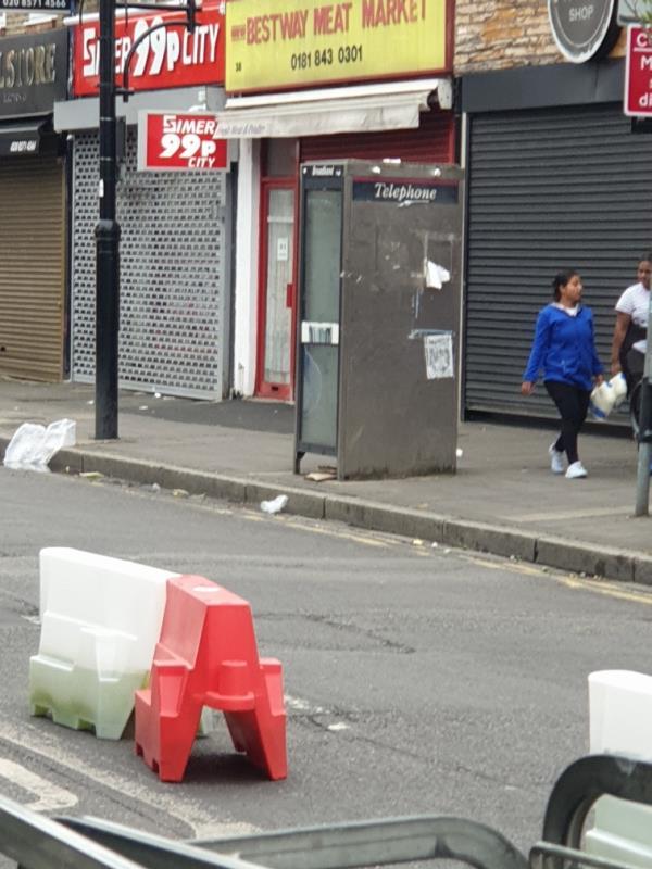 on phone box-35A King St, Southall UB2 4DG, UK