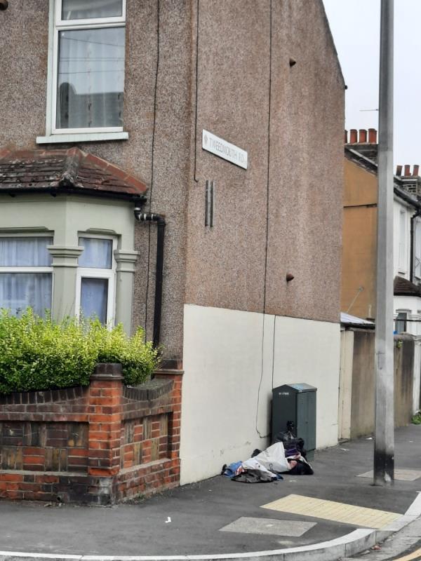 Rubbish dumped on Thecorner of Tweedmouth Rd and Edinburgh Rd -18 Tweedmouth Rd, London E13 9HT, UK