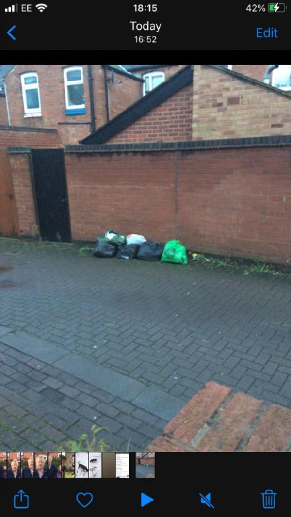 There's a bed at the end of the road and this was dumped outside no 7 Biddulph Avenue -7 Biddulph Avenue, Leicester, LE2 1BE