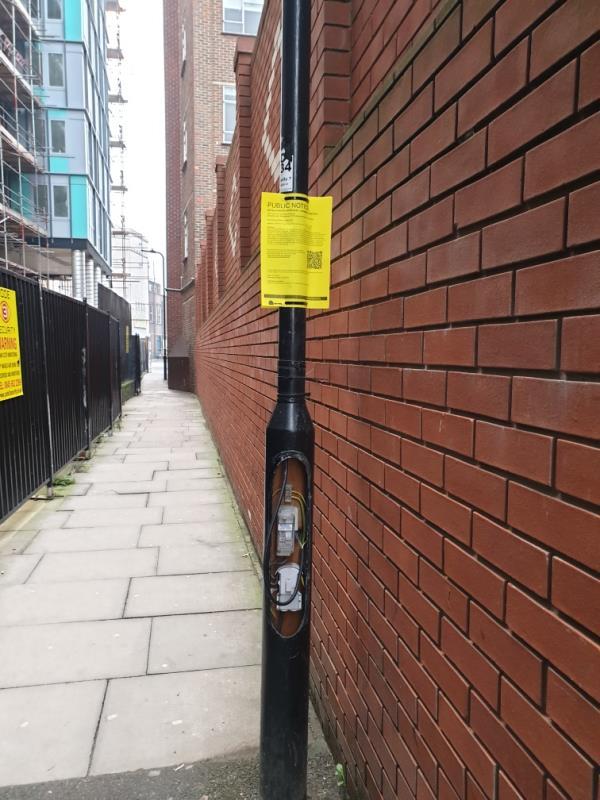 light cover missing on base-39-47 High St, Southall UB1 3HF, UK