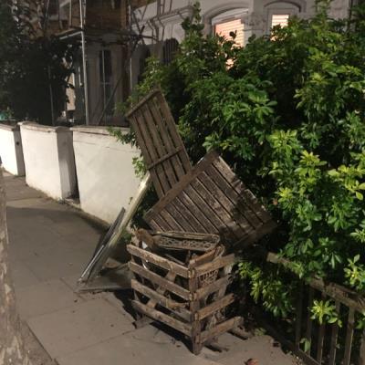 Stuff dumped outside 60 Roding Road. -58 Roding Road, London, E5 0DW