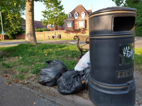 Dumped rubbish at top of Kendrick-Sheringham Court Kendrick Road, Reading, RG1 5ED