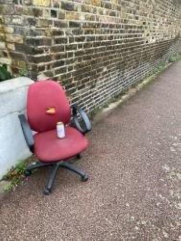 Plesse clear a dumped chair-33 Billington Road, New Cross Gate, SE14 5QQ