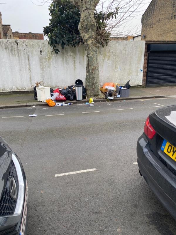 Mountain of waste -215 South Esk Road, Green Street East, E7 8HE