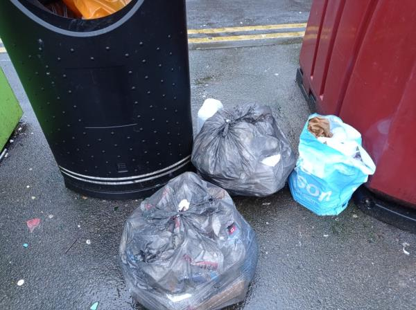 Bags of domestic rubbish-44 Howard Street, Reading, RG1 7XT