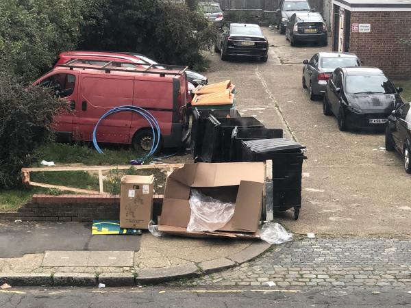 Boxes left on the street-39 Carnarvon Rd, London E15 4JW, UK