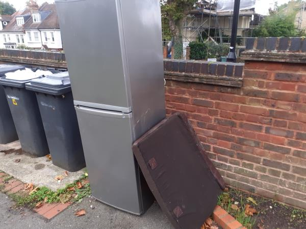 cushion and refrigerator-131a Sunderland Road, London, SE23 2PX