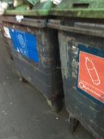 Rubbish all over bins -252-262 Romford Road, London, E7 9HZ