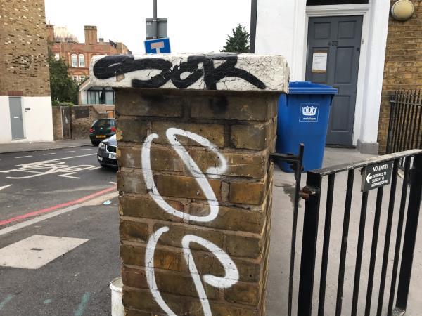 Pillar blast/paint 0.5m-22 Mornington Rd, New Cross, London SE8 4BN, UK