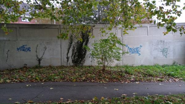 Graffiti on Caversham Bridge, side of bridge and in tunnel-206 Caversham Road, Reading, RG1 8AZ
