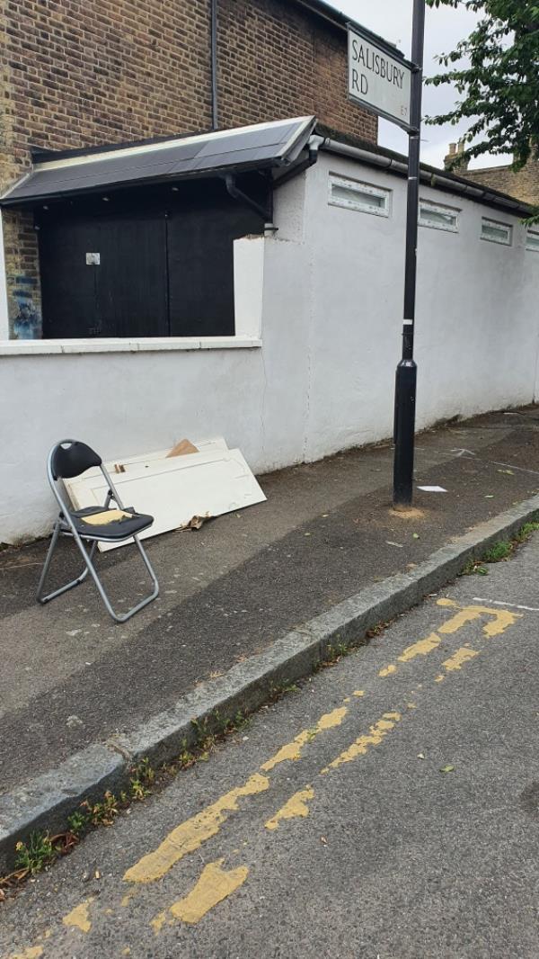 Chair, doors-42 Salisbury Road, London, E7 9JX
