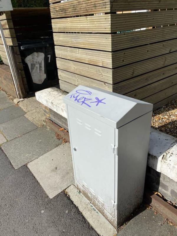 Remove graffiti from cable box-7d Jerningham Road, New Cross Gate, SE14 5NQ