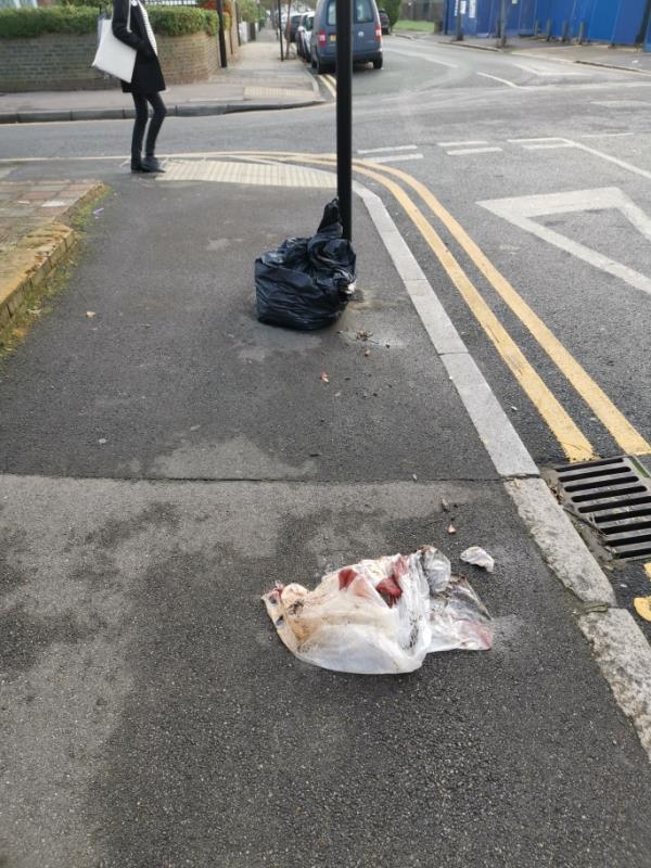 Rubbish dumped -45 Station Road, London, E7 0ES
