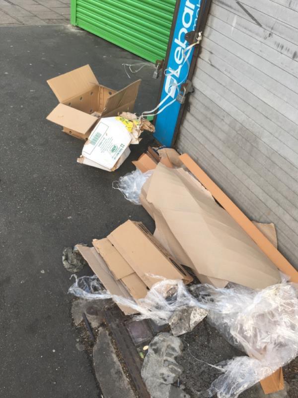 Rubbish -125 Plashet Road, Plaistow, E13 0RA