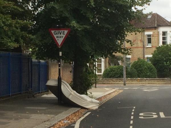 Dumped double mattress -5 Pierrepoint Road, London, W3 9EZ