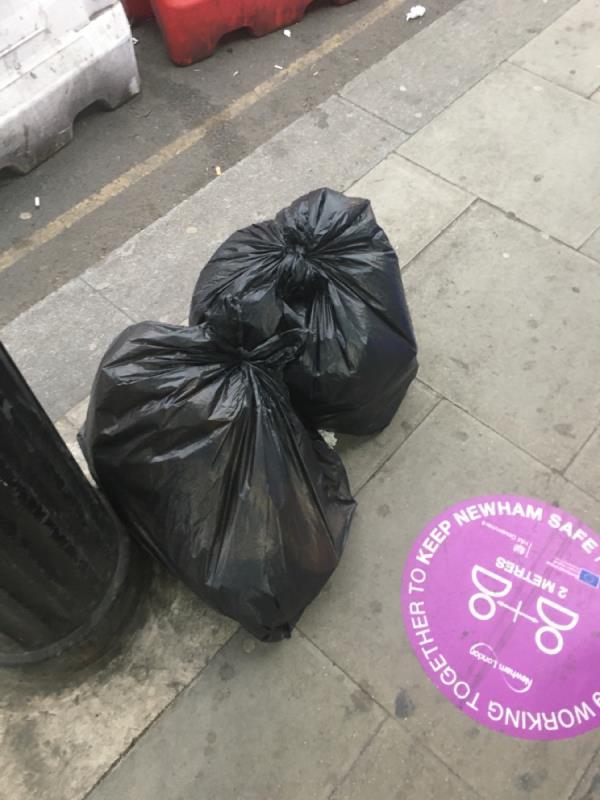 Rubbish -109-111 Woodgrange Road, London, E7 0EW
