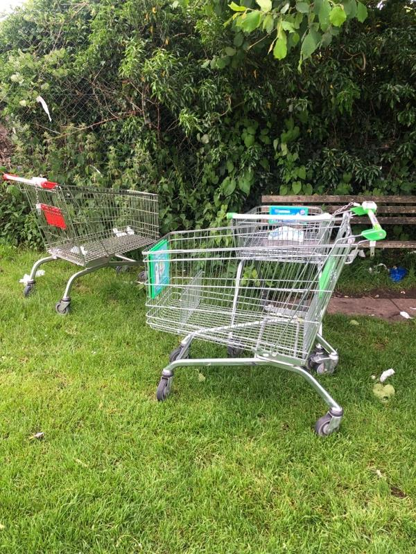 Abandoned trolleys in rectory road park-131 Rectory Road, Farnborough, GU14 7HS