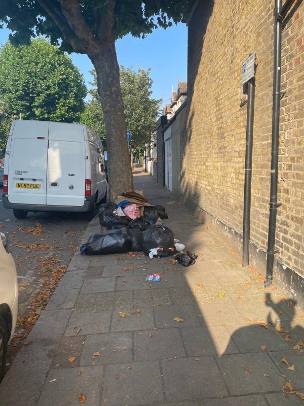 15+ bin bags of household waste -2 Bristol Road, Green Street East, E7 8HF