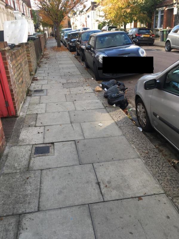Black sacks Argyle Rd N17-25 Argyle Rd, London N17 0BE, UK
