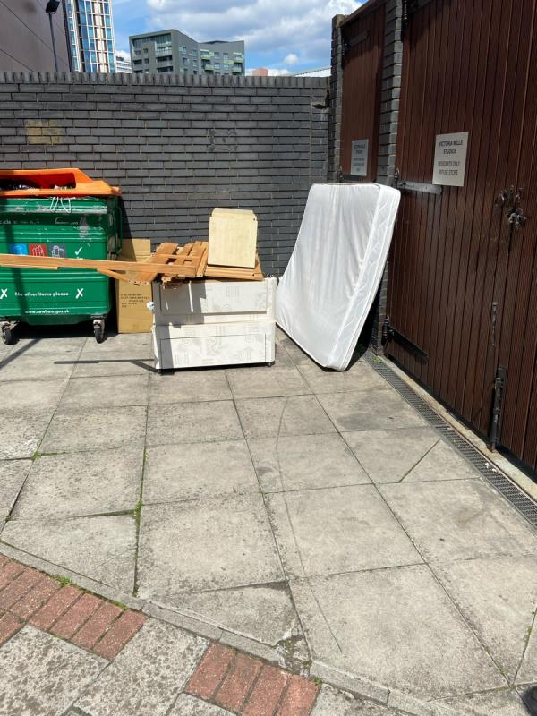 Dumped furniture -Burford Wharf Apts, 3 Cam Rd, London E15 2SQ, UK