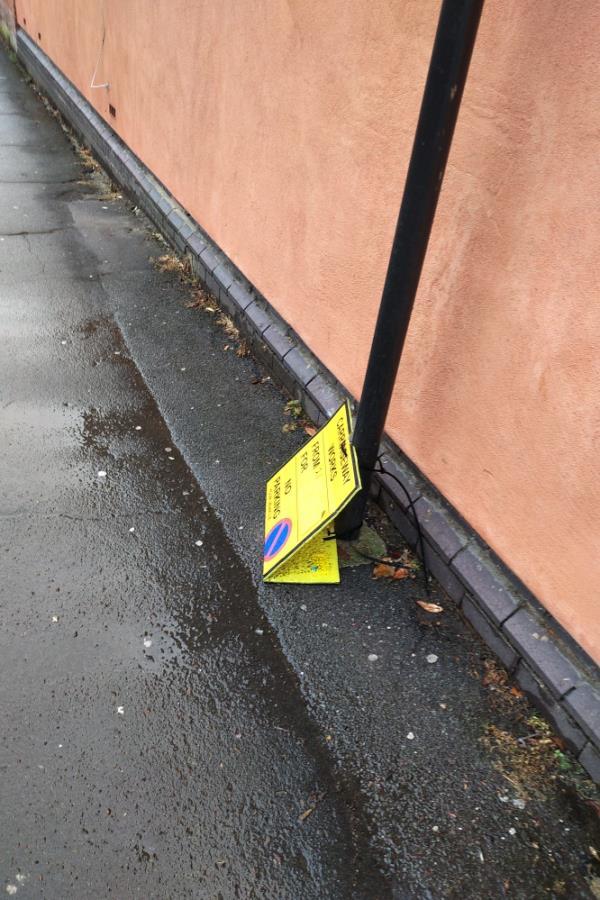 Road works done but sign left behind. -16 Berkeley Road, Crouch End, N8 8RU
