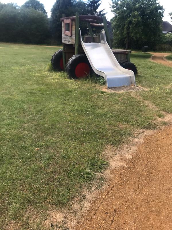 Spr and felt pen tags are located on playground equipment located inside Cayton Park Ub6  image 2-51 Middleton Avenue, London, UB6 8BG