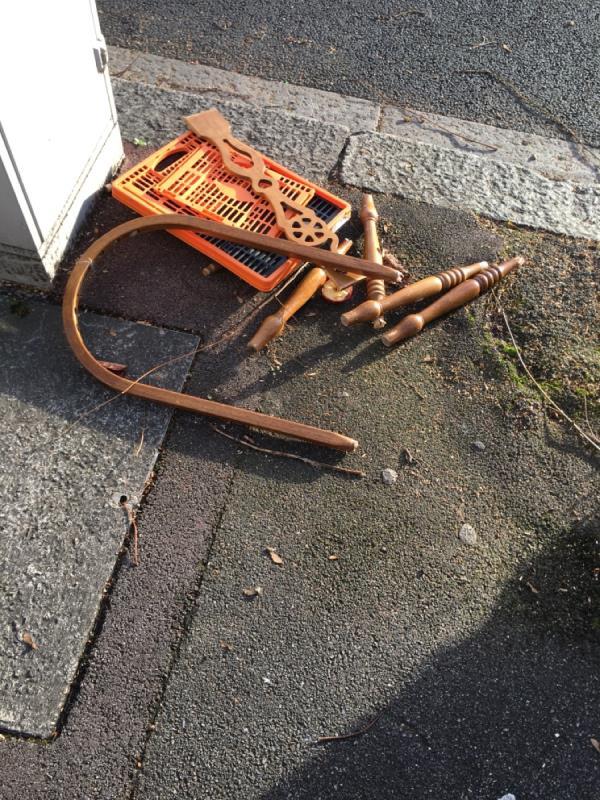 Rubbish dumped-177 Kensington Avenue, London, E12 6NL