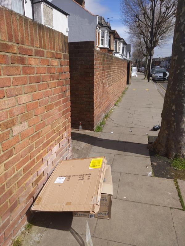 cardboard evidence -62 Macaulay Road, East Ham, E6 3BL