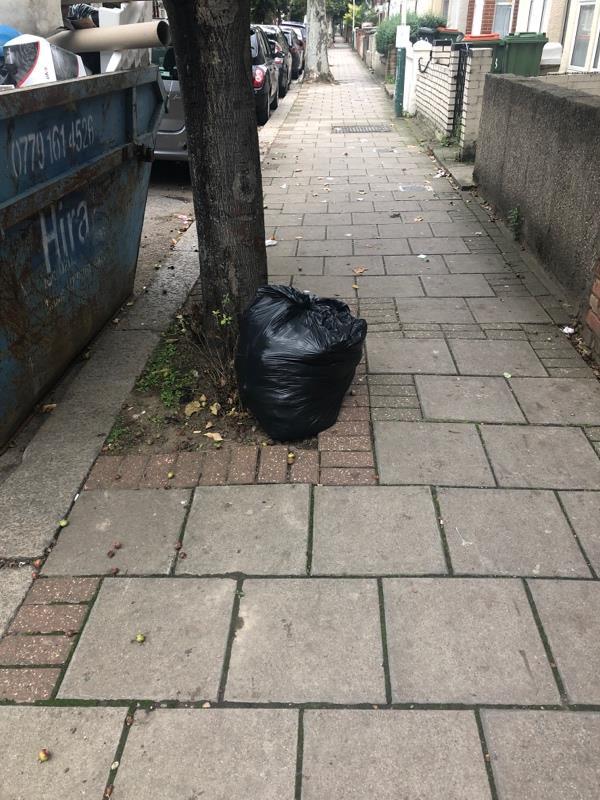 1 x bin bag -10 Bristol Road, London, E7 8HF