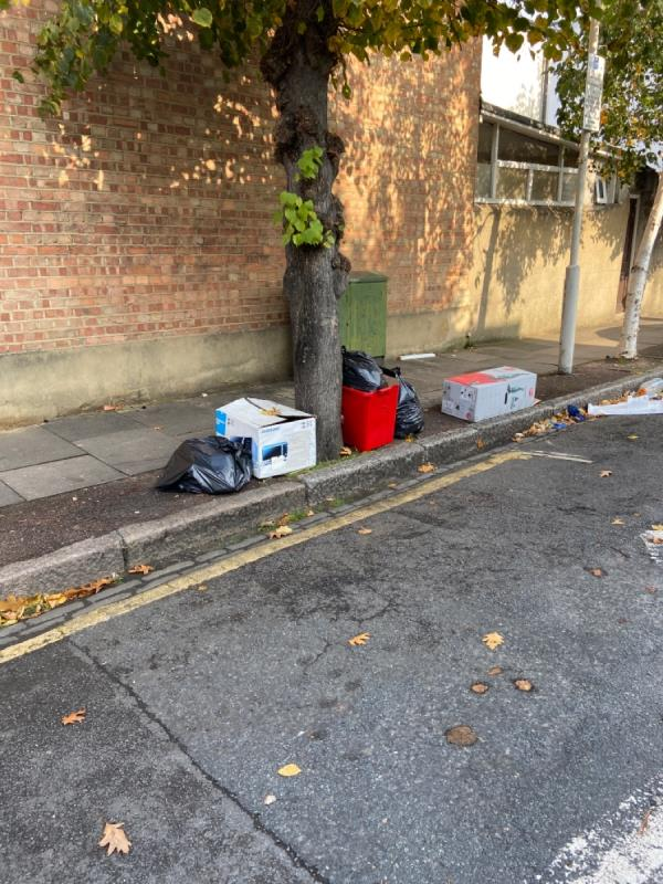Luggage and garbage -12 St George's Ave, London E7 8HP, UK