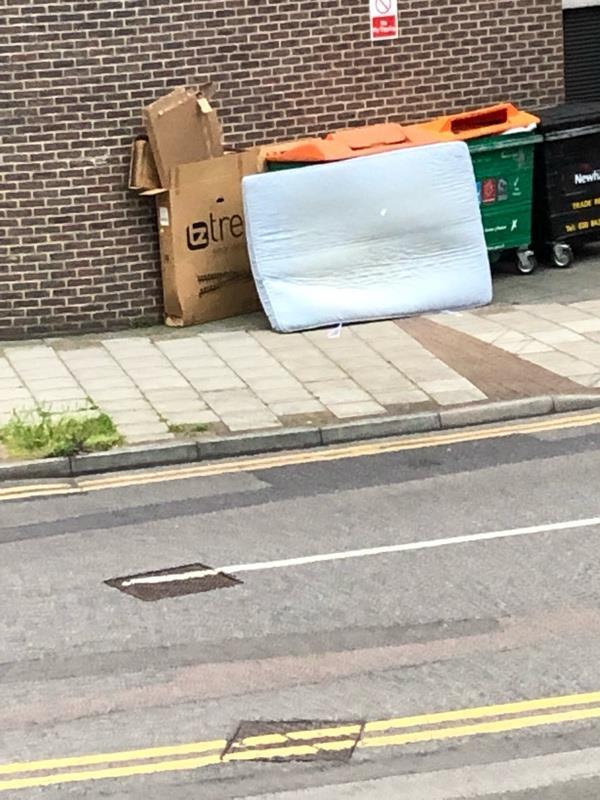 Dumped mattress-2 Cam Rd, London E15 2SN, UK