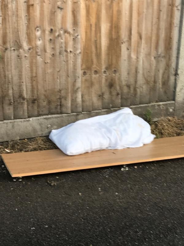 Pillow small pieces of wood -128 Laleham Road, London, SE6 2BX