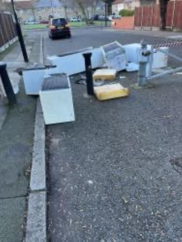 Junction of Haddington Road please clear fridges-33 Oakridge Road, Bromley, BR1 5QW