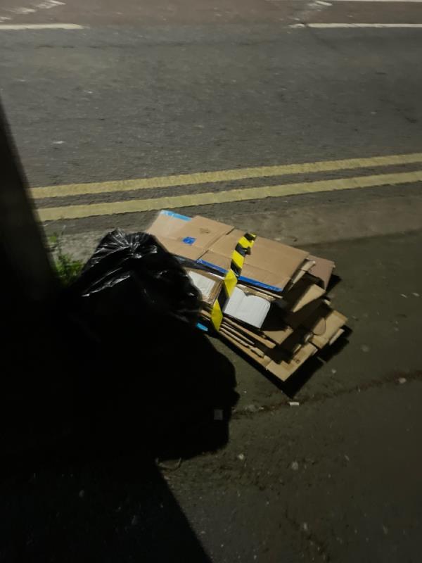 Rubbish -Oldegate House, Victoria Ave, East Ham, London E6 1EU, UK