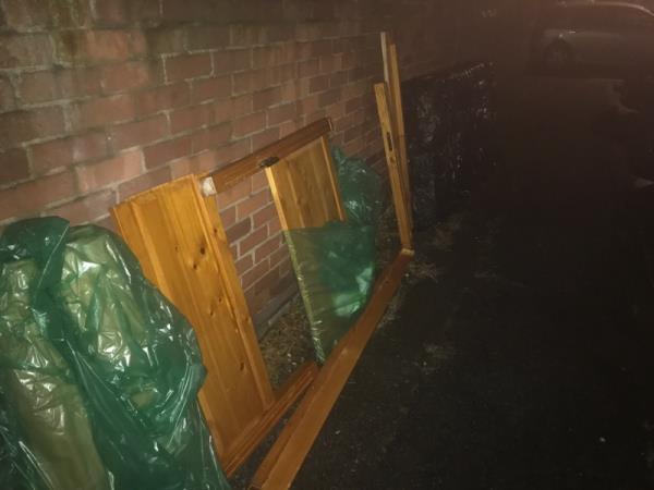 Rubbish bits of wood left -20 Mortlake Rd, London E16 3NT, UK
