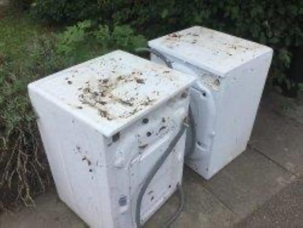 Please clear 2 washing machines-97 Longhill Road, London, SE6 1UB