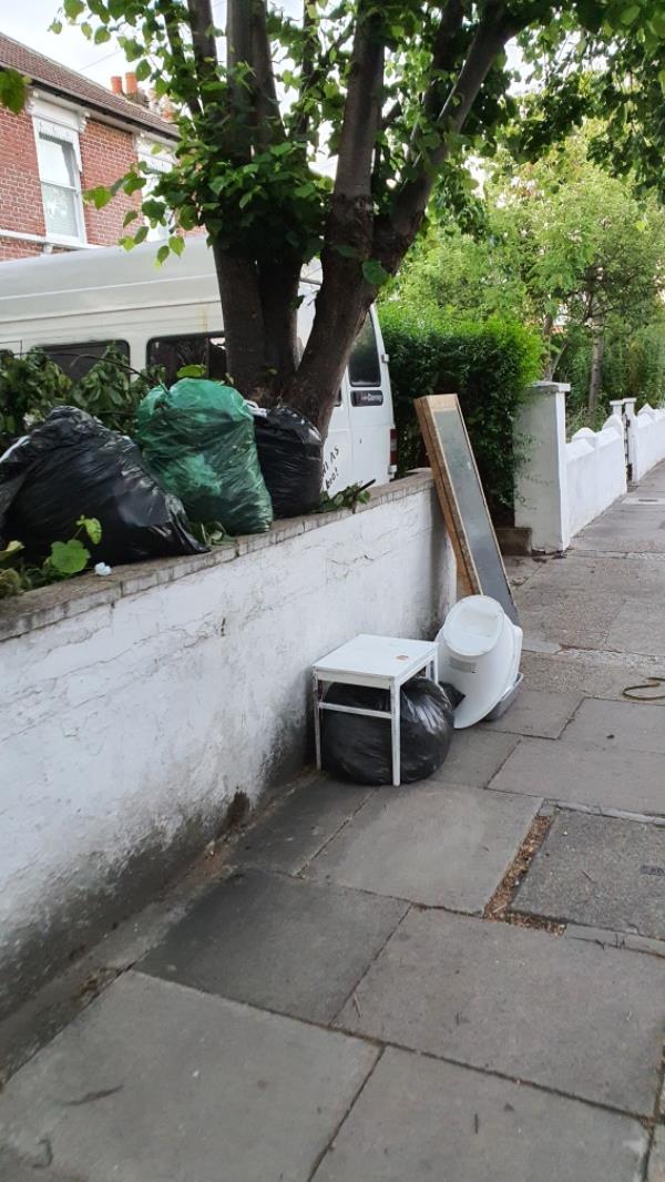 bags, old pots and furniture -31 Osborne Road, London, E7 0PJ