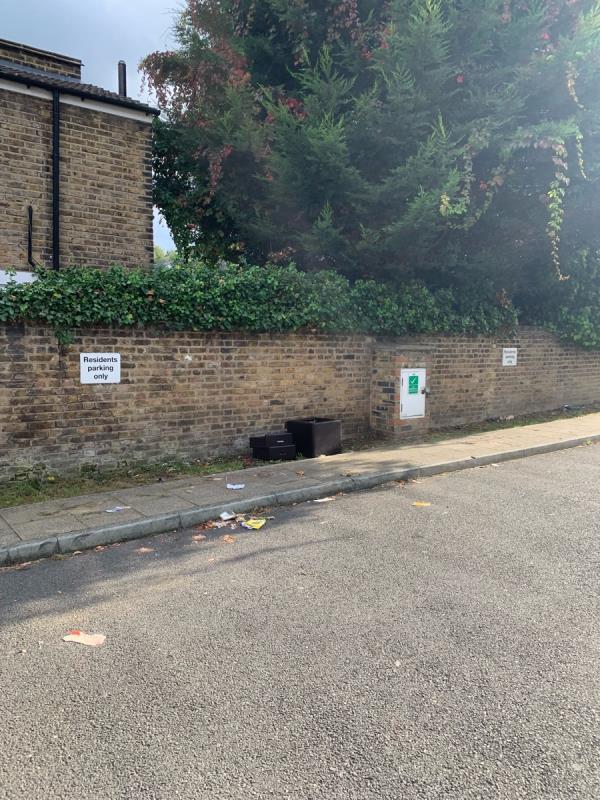 Furniture fly tipped -86 Leahurst Road, London, SE13 5NN