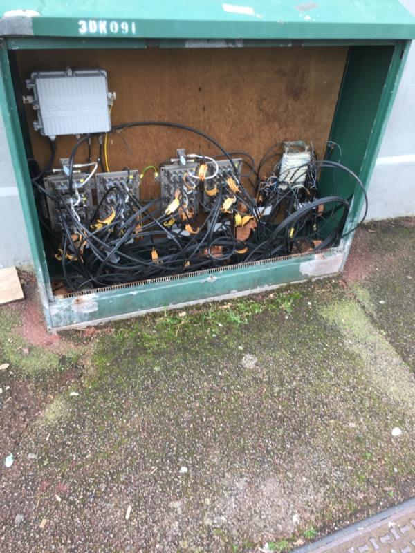 BT box broken and needs repairing-161 Ruskin Avenue, London, E12 6PP